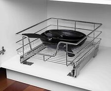 Home Basics NEW Cabinet Slide-out Drawer Organizer Steel Pull Out System SS41227