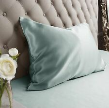 Jasmine Silk 100% Natural 19 Momme Charmeuse Silk Pillow case Duck egg