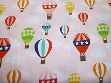 Riley Blake Lazy Day Flowers hot air balloons pink  quilting/patchwork fabric,