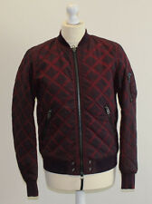 Diesel W Creek Mens bomber Jacket Dark Red Size M