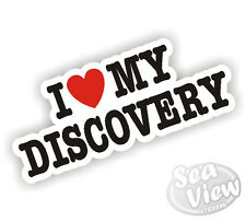 I Heart Love My Discovery Land Rover Car Sticker Decal