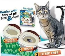 Cat Toilet Seat Training Kit Litter Tray Potty Train Kitty System with Catnip UK