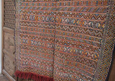 Vintage Moroccan Berber Rug  - Old Style Kilim - Turquoise/Red/Gold - 5.7 x 3.9