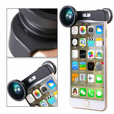 3in1 Clip-on 180 Degree Fisheye len Wide Angle Macro lens kit for iPhone 6S Plus