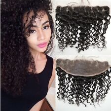 "14"" Brazilian virgin frontal lace closure human hair Deepwaves curls(13*4),  6A"