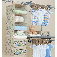 Delta Children Nursery Closet Organizer Bedroom Boys Baby-Infant Blue 20 pc. Eco