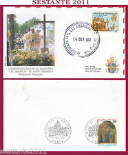 W484 VATICANO  FDC ROMA GIOVANNI PAOLO II WOJITYLA VISITA SANTO DOMINGO  1992