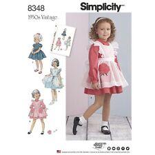 SEWING PATTERN! MAKE GIRL~TODDLER VINTAGE 50'S DRESS~PINAFORE! SIZES 1/2 TO 4