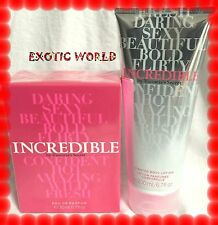 VICTORIA'S SECRET INCREDIBLE EAU DE PERFUME & LOTION SET (2 PIECES)