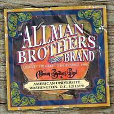 Allman Brothers Band, American University 12/13/70, Excellent
