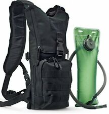Tactical Hydration Pack With 3L Water Bladder. Military Style Backpack For