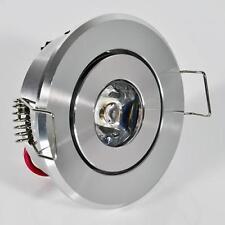 1 W Watt LED Einbaustrahler Einbauleuchte Einbauspot Schwenkbar SMD WEISS 230v