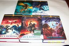The Lost Hero Series by Rick Riordan, 5 Volumes ALL 5 SIGNED 1st/1st, h/c,d/j,