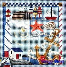 "Mill Hill Buttons Beads Cross Stitch Kit 5"" x 5"" ~ SEASIDE SAMPLER #14-7105 Sale"