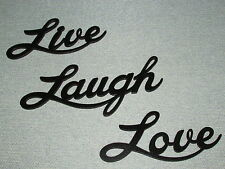 Live Laugh Love Large Words Laser Cut Wood Wall Art Accents Sign