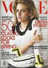 Vogue magazine Kristen Stewart Classic spring fashion Maggie Gyllenhaal Coats