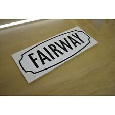 COSALT Holiday Home Fairway Caravan Sticker Decal Graphic - SINGLE