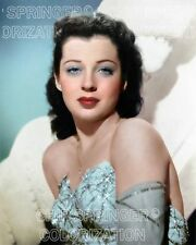 GAIL RUSSELL WEARING A STAR DRESS BEAUTIFUL COLOR PHOTO BY CHIP SPRINGER