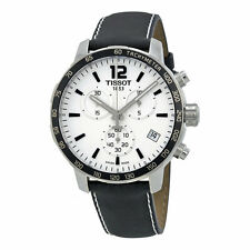 Tissot Quickster Silver Dial Chronograph Men's Black Strap Watch T0954171603700