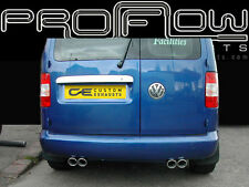 VW CADDY VAN STAINLESS STEEL CUSTOM BUILT EXHAUST SYSTEM TWIN TAIL PIPES