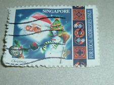 "Used Singapore ""Christmas"" Stamp * Free Postage"