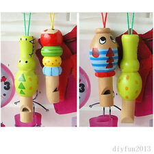New Wood Animal Whistle Flute Funny Toy Music Developmental Baby Kids Gift