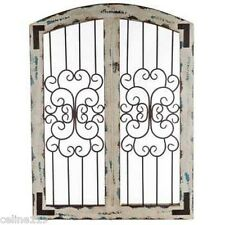 White Metal and Wood Wall Decor  Shabby Chic Decor Rustic Country Wall Decor