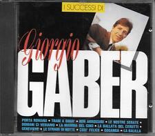 """GIORGIO GABER - RARO CD FUORI CATALOGO CDOR """" I SUCCESSI DI GIORGIO GABER """""""