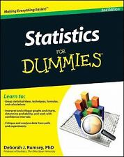 Statistics for Dummies® by Deborah J. Rumsey With Bar Charts Quick Study Guide