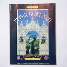 XXII 1988 Vintage Original NFL Football Super Bowl Official Game Program