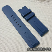 22mm blue rubber watch strap diving silicone band for Corum Admiral's Cup