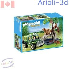PLAYMOBIL WILD LIFE SAVANNAH TIGER SNAKE ORANGUTAN JEEP #5416 93pc FIGURINES NEW