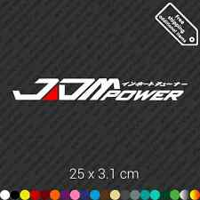 JDM power car bumper sticker decal vinyl stance jdm - White and Red