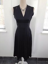 STUNNING  ISSA LONDON 100% SILK Little black dress UK 10