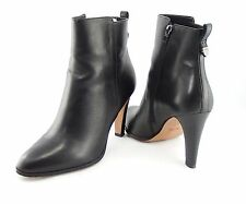 Coach Jemma Shoes Black Soft Leather Booties Ankle Boots 9.5 B $175