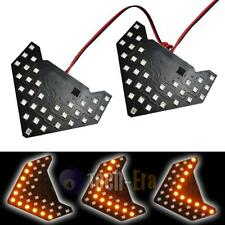 2 Amber 33-SMD Sequential LED Arrows Panel for Car Side Mirror Turn Signal Light