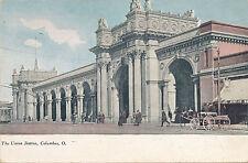 1909 Columbus, Ohio Union Station Railroad Depot, Massive Edifice, Postcard