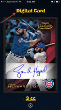 2016 Topps Bunt Gold Label BLACK FRAME Signature Jason Heyward - (3 cc) -DIGITAL