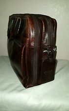 BOSCA STRINGER OLD LEATHER  COLLECTION  LAPTOP BRIEFCASE DARK BROWN $650