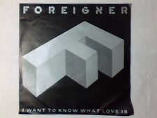 """FOREIGNER I want to know what love is 7"""" GERMANY BLACK LABEL"""
