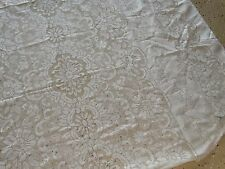 15506 Vintage Lace Tablecloth ~ Table Linen / Dining Table Size appr 7' by 5'