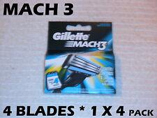Gillette Mach 3 - 4 Blades (1 x 4 Pack)