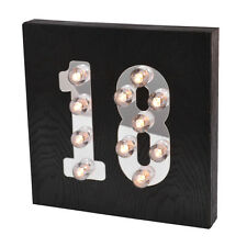 18th Birthday Light Up Block Age 18 Celebrate In Style Light Up Blocks