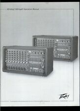 Rare Orig Factory Peavey XR 684F/696F Powered Mixer Amplifier Owner's Manual