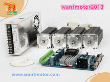 EU Free shipWantai 4Axis Nema 23 Stepper Motor 270oz-in,2 phase, 4-Leads CNC kit