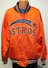 HOUSTON ASTROS Mitchell & Ness 1971 Throwback JACKET Size 56 Satin MLB Orange