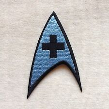 STAR TREK MEDICAL LOGO EMBROIDERY IRON ON PATCH BADGE