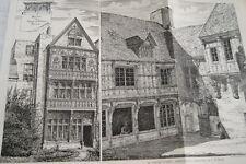 ARCHITECTURE-MAISON DIANE DE POITIERS COURTYARD ABBEVILLE GRAVURE 1878  MD303
