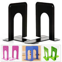 1-4 Pairs Of Heavy Duty Metal Bookends Book Ends 7.5'' Home Office Stationery UK
