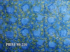 5 yards Dye Floral sanganei Dress Material hand block printed cotton fabric